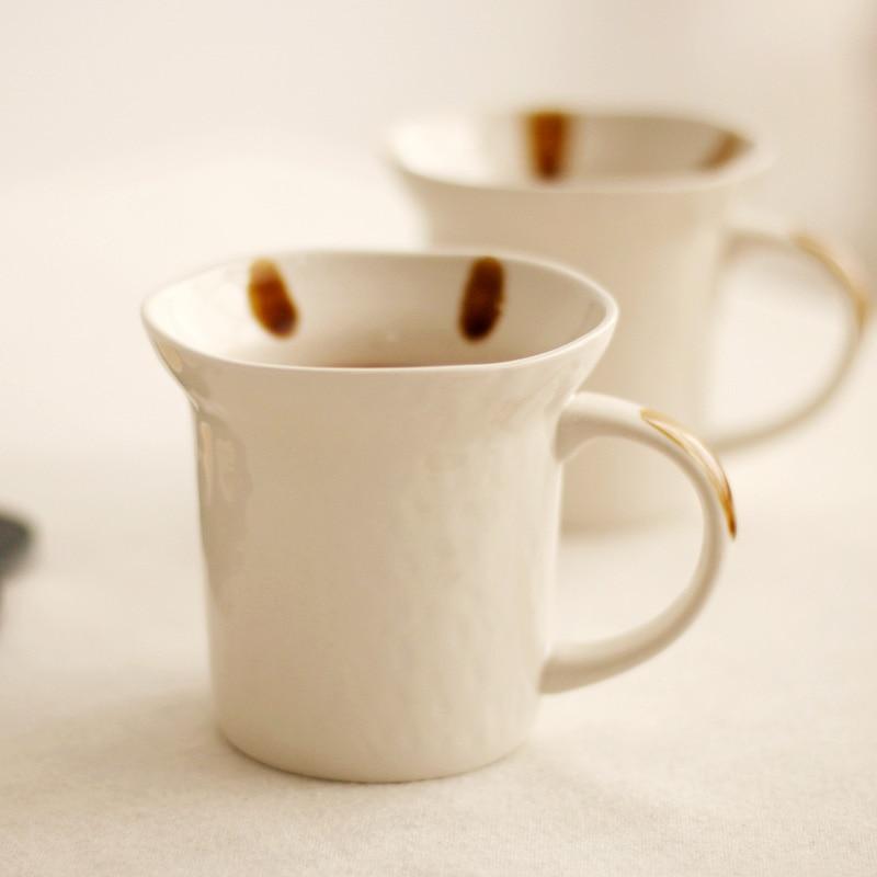 Taza de cerámica creativa de estilo japonés, taza de porcelana, vajilla, taza de café con empuñadura pintada a mano para parejas, tazas de té de leche