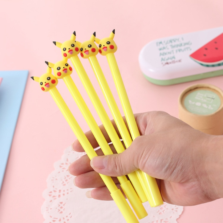 1 PCs Creative Briefpapier Pikachu Pet Elf Baby Neutrale Pen Kawaii Schoolbenodigdheden Stationaire