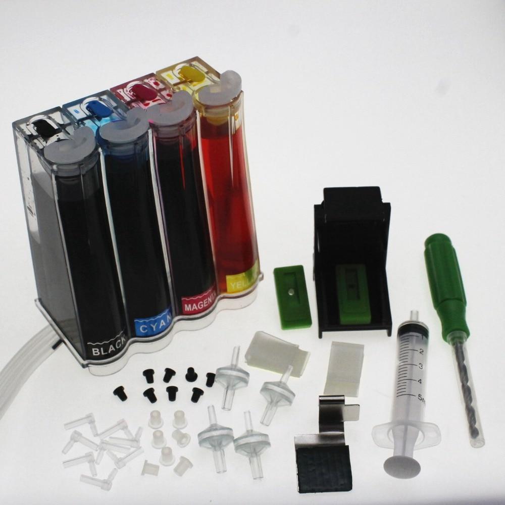 BLOOM ciss tinta kit para HP 61 XL cartucho de tinta para HP Deskjet serie 1000, 1050, 1055, 2000, 2050, 2512, 3000 J110a J210a J310a impresora