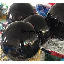 Globos inflables gigantes para publicidad, bola reflectante negra, globo de espejo inflable para eventos, Bola de decoración plateada