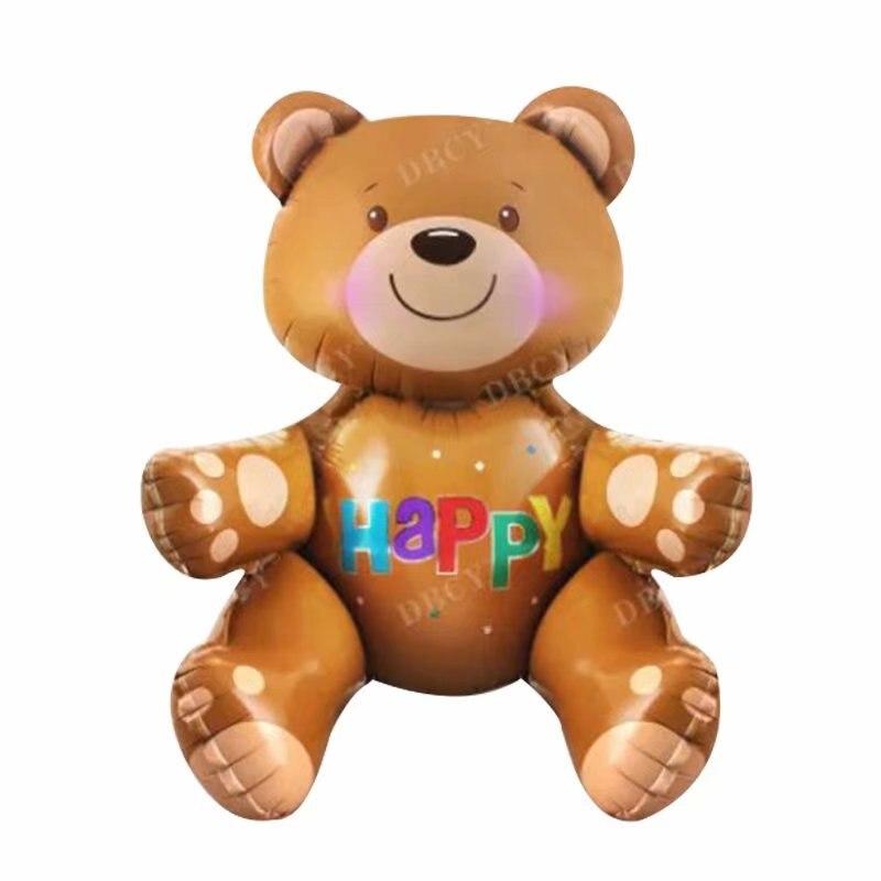 Grandes balões da folha de urso 3d brinquedos clássicos globos balões de hélio feliz aniversário bolas brinquedos infláveis do chuveiro do bebê fontes de festa