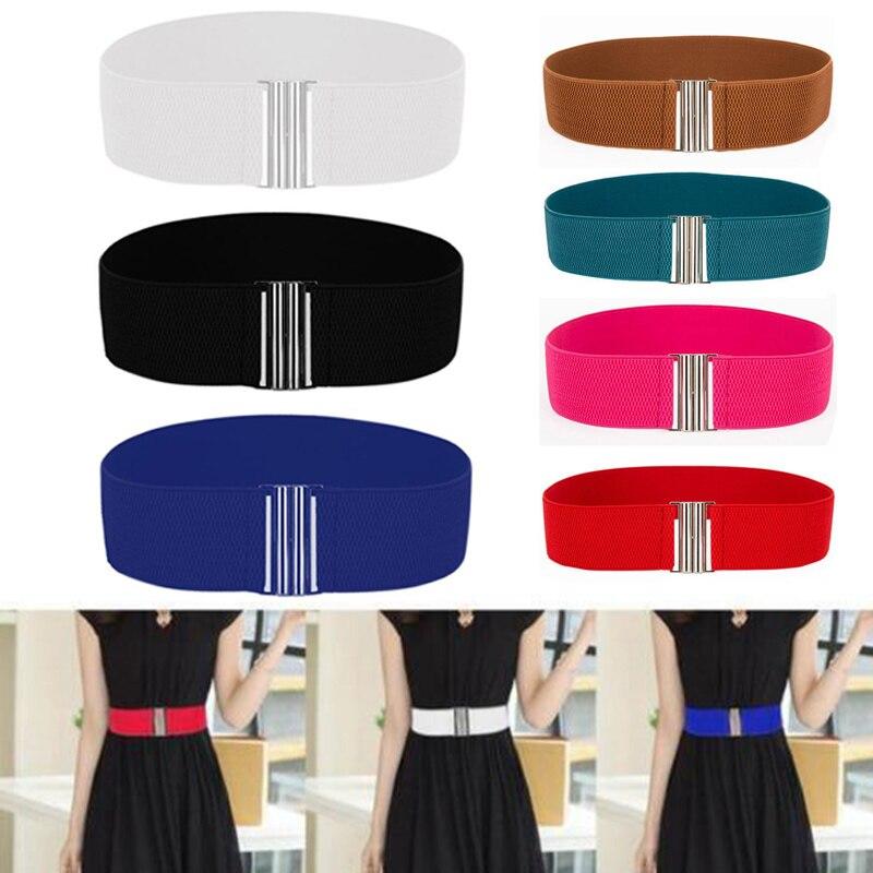 Cinturón elástico para mujer, ajustado, elástico, ancho, Ceinture, corsé de atar, cintura suave, Vintage, femenino, rojo, negro, azul, cinturón de vestir, accesorios