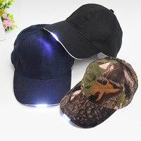 Яркий светящийся в темноте светильник для чтения, рыбалки, пробежек, светодиодный, спортивная бейсболка, светящаяся Праздничная шапка для у...