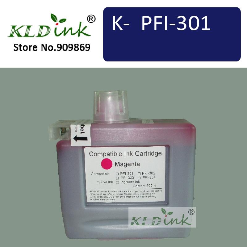 Cartucho de tinta KLDINK-PFI-301M Magenta (tinta PFI 301 1488B001) para impresora imagePROGRAF ipf8000
