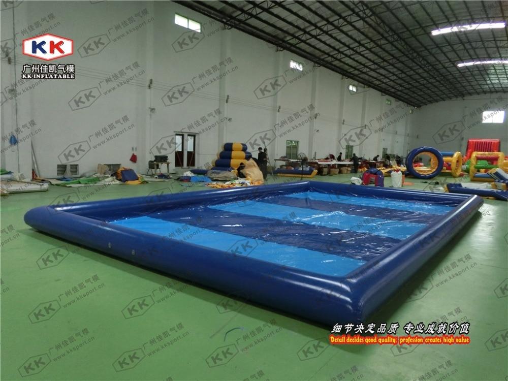 مسبح أرضي قابل للنفخ للبالغين والأطفال, مربع قابل للإزالة مصنوع من كلوريد متعدد الفاينيل
