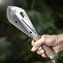 Нержавеющая стальная садовая лопатка, лопата, много инструментов, Weeder с шестигранным гаечным ключом, линейка, копатель, нож, копье, садовый бонсай