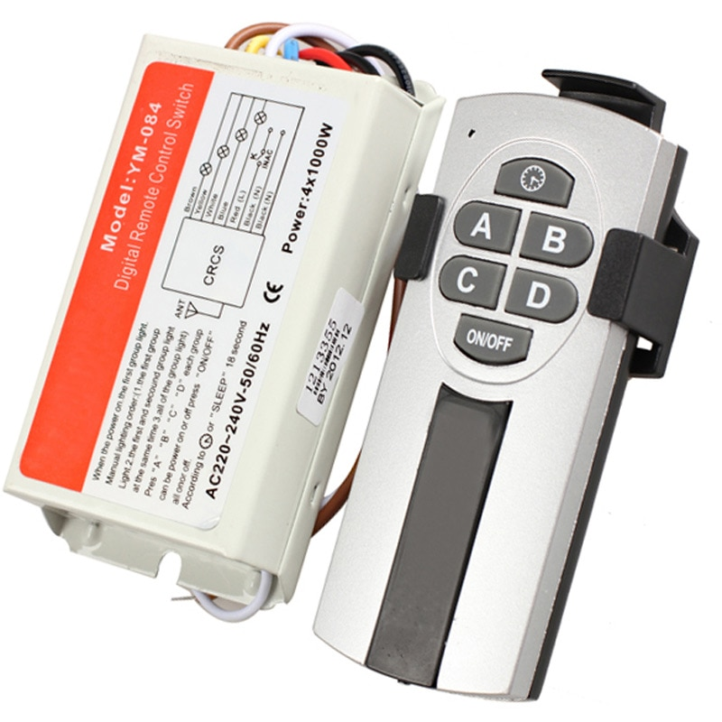 Беспроводной Выключатель дистанционного управления DIY 1/2/3/4, 220 В, цифровой выключатель дистанционного управления для интеллектуального освещения