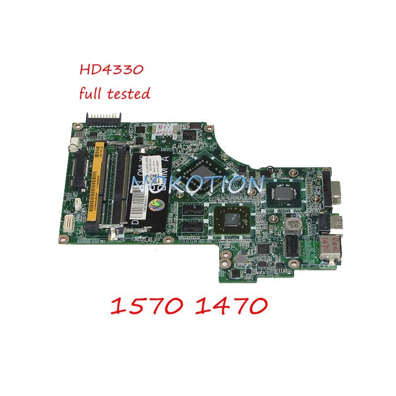 NOKOTION CN-04580M 04580M 4580M 5GFXR ordenador portátil placa madre para dell Inspiron 1570 de 1470 DA0UM2MBAC0 HD4330 GPU placa principal