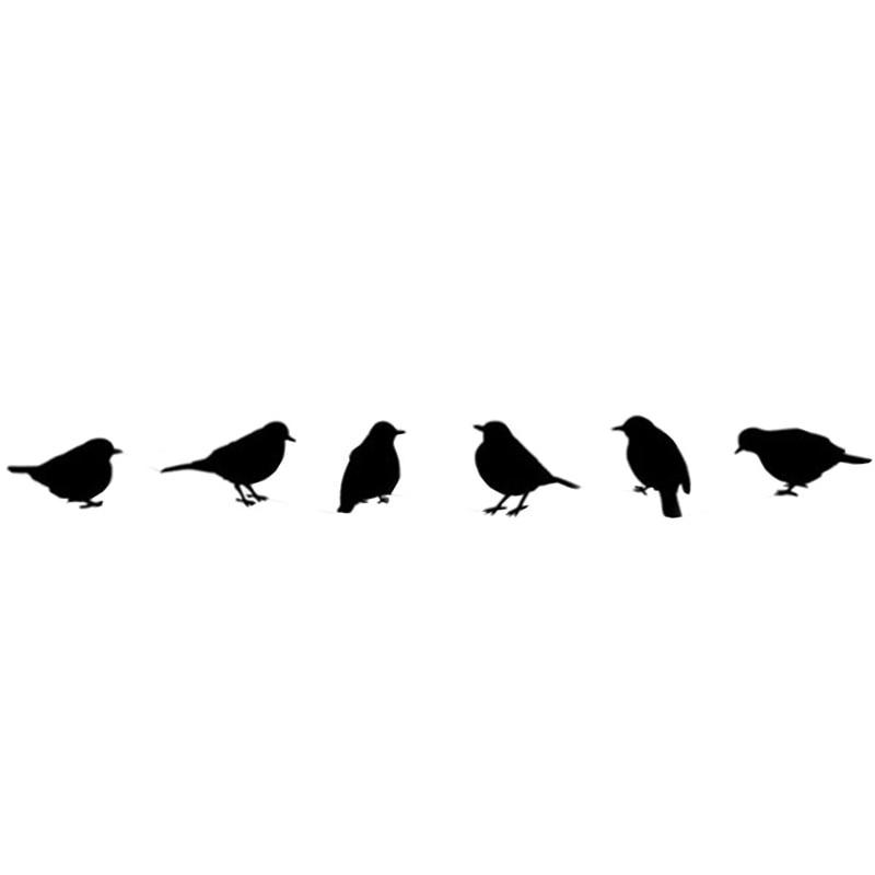 Novedad 2020, arte De pájaros volando Diy, pegatinas De pared negras, pegatinas De vinilo extraíbles, Mural para habitación De la casa, decoración, Adhesivo De pared D36jl24