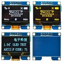 1.54 inch 7PIN Blauw OLED Module SPD0301 Drive IC IIC/SPI Interface 128*64
