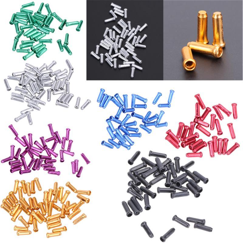 50 Uds bicicletas de aluminio de freno de palanca de Cable interno consejos de tapa bicicletas cambio tapas núcleo interior virolas