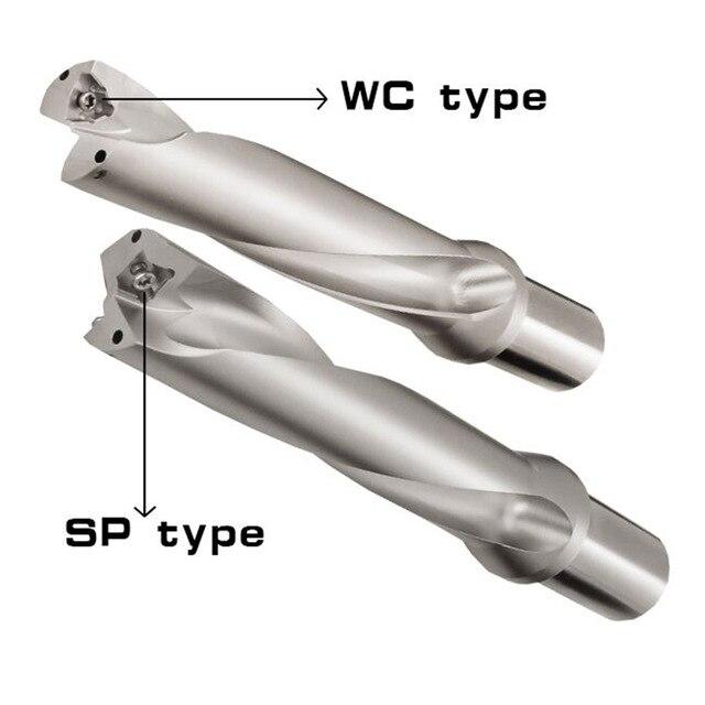 WC C25 4D 13 14 15 16 17 18 19 20 mm brocas de plaquita intercambiable herramienta U Tipo de torno de Metal herramientas de perforación para WCMT030208 insertar
