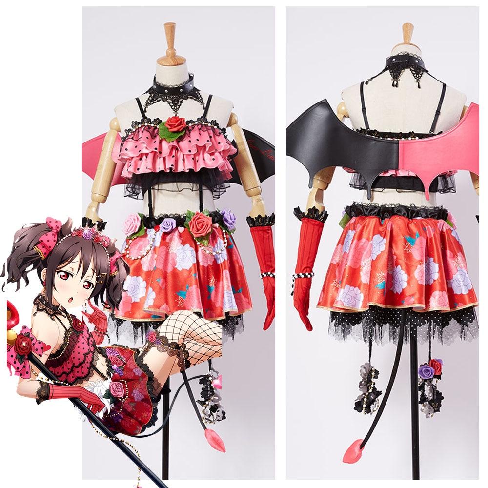 LoveLive! Love Live New UR Nico Yazawa Little Demon Devil Transformed Uniform Halloween Party Cosplay Costume Custom Made