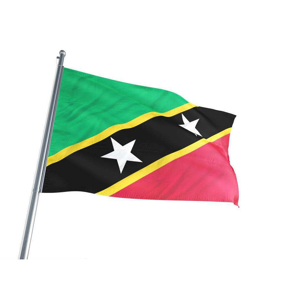 El Saint Kitts-Nevis (KN) bandera de poliéster 5*3 pies 150*90 CM Bandera Nacional