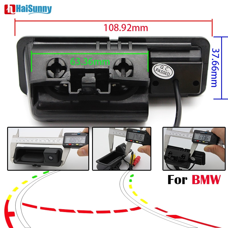 HaiSunny ayuda al aparcamiento inteligente trayectoria dinámica pistas de coches estilo para BMW E46 F30/F48 Serie 3/5/X3/X1 E53-vista