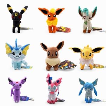 Плюшевые игрушки стоят в 9 стилях, Sylveon Umbreon Evee Espeon Vaporeon Flareon, мягкие игрушки в виде животных, подарок для детей