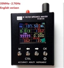 Englisch verison Antenne Analyzer Meter Tester 35 MHZ-2,7 GHZ N1201SA N1201SA + UV RF Vector Impedanz ANT SWR