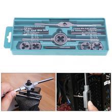 12 pièces/ensemble multifonction NC robinet à vis et jeu de matrices Kit doutils à main taraudeuse à filetage externe avec M6 M7 M8 M10 M12 robinets