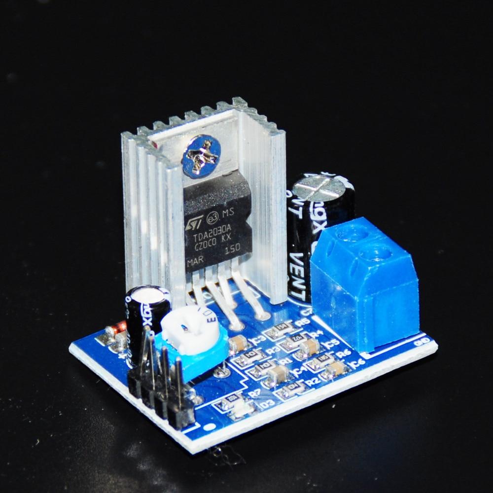 Amplificador de áudio tda2030 amplificador eletrônico diy tda2030 amplificador de áudio placa amp mono módulo de fonte de alimentação 6-12 v tda2030a