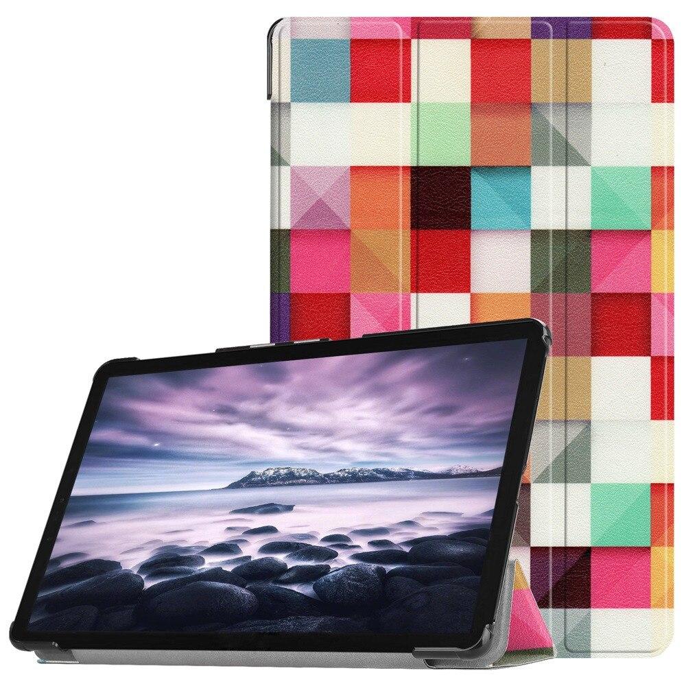 Tri-fold Smart Stand Anti Scratch cuero Tablet funda para Samsung Galaxy Tab A2 10,5 pulgadas T595 20J Drop Shipping