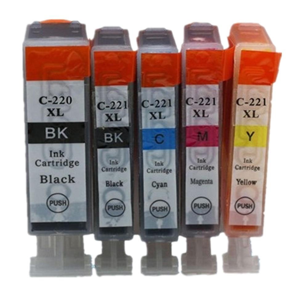 Replacement PGI-220 CLI-221 PGI-220XL PGI 220 XL PGI220 PGI220XL Ink Cartridge   Pixma MP550 MP560 MP620 MP620B MP630