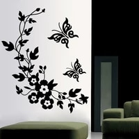 3d butterfly flowers wall sticker for kids room bedroom living room fridge stickers home decor diy 3d butterfly wall stickers