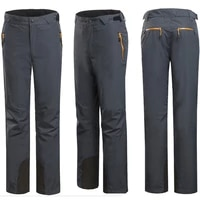 2021 autumn male pants mens outdoor sports clothing hiking trousers climbing two piece fleece lined with detachable ski pants