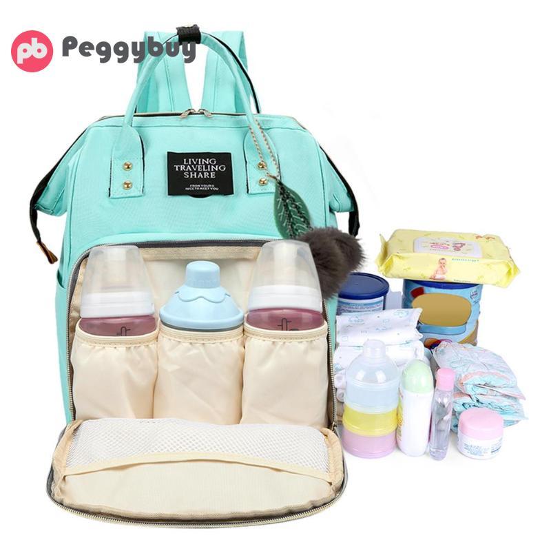 Однотонная сумка для мамы, вместительная сумка для подгузников, дизайнерская сумка для кормления, женский модный дорожный рюкзак для ухода ...