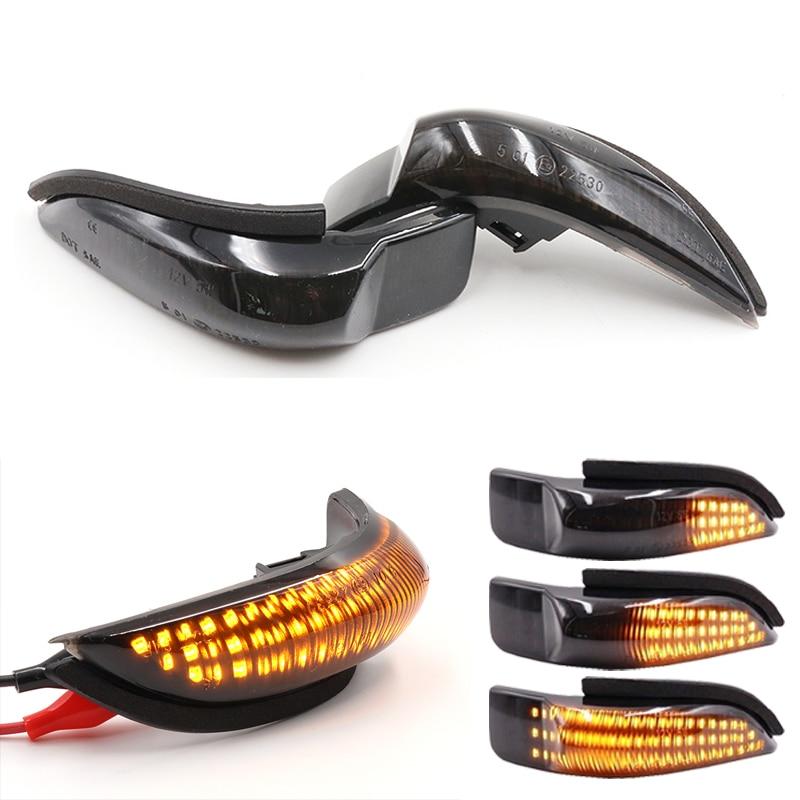 Par de luces LED de flujo dinámico ámbar para señal de giro de espejo retrovisor, luz indicadora para Toyota CAMRY COROLLA YARIS VENZA