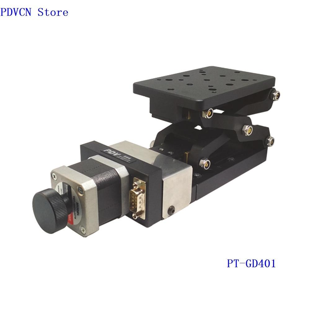 PT-GD401 Electric Lifting Platform, Motorized Lab Jack, Elevator, Optical Sliding Lift, 60 +/- 2 mm Travel linear slide axis