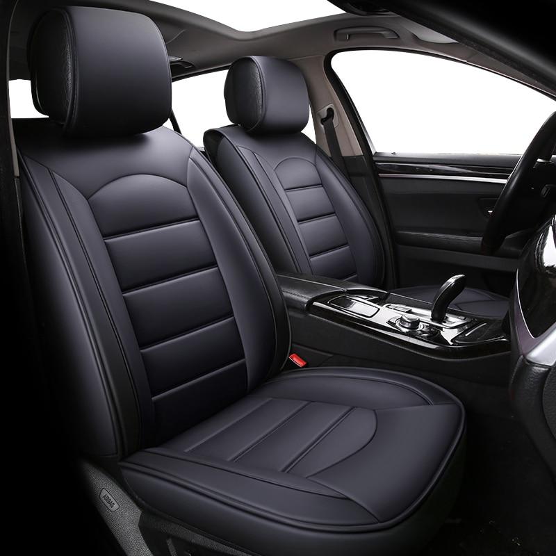 Cubiertas de cuero para asiento de coche de alta calidad para opel antara astra g h j corsa d insignia meriva mokka vectra, protector de asiento universal