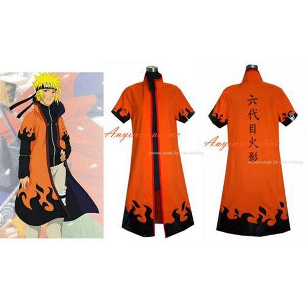 Naruto equipo uzumaki chaqueta abrigo Cosplay traje hecho a medida [G342]