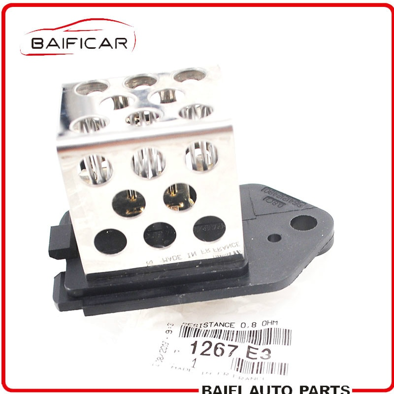 Baificar Brand New Genuine 0.8 Ohm  Blower Radiator Fan Motor Relay Resistor 1267E3 For Citroen C2 C3 Xsara Peugeot 206 207 307