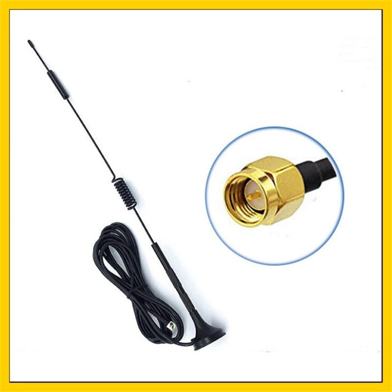 10PCS   8dbi 4G LTE Antenna SMA Male Right Angle 3M Cable with Magnetic Base for 3g 4G modem router