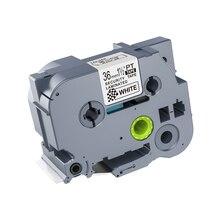 1 Uds 36mm, negro sobre blanco, TZe-SE6 TZ-SE6 tz-se6 cintas de etiquetas compatible para PT530 PT3600 PT-P900W PT-P900 táctil P impresoras de etiquetas