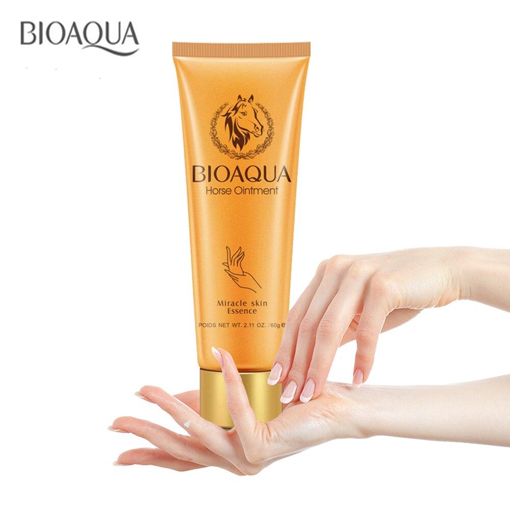 Crema hidratante para manos bioaqua horse ungüento milagro marcas anti envejecimiento blanqueamiento crema de manos para el cuidado de la piel