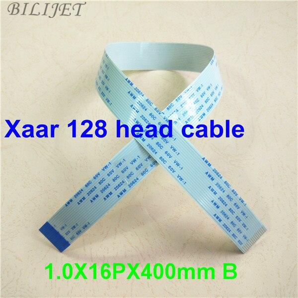 Cable de cabeza Xaar 128 16 pines para impresora de inyección de tinta Myjet Gongzheng Allwin Aprint FFC cable de datos de cabezal de impresión (1,0*16 P * 400mm B) 20 piezas