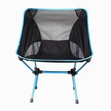 Chaise Ultra légère chaise de voyage pliante tabouret de siège siège de camping Portable pour pêche Camping randonnée pêche plage pique-nique