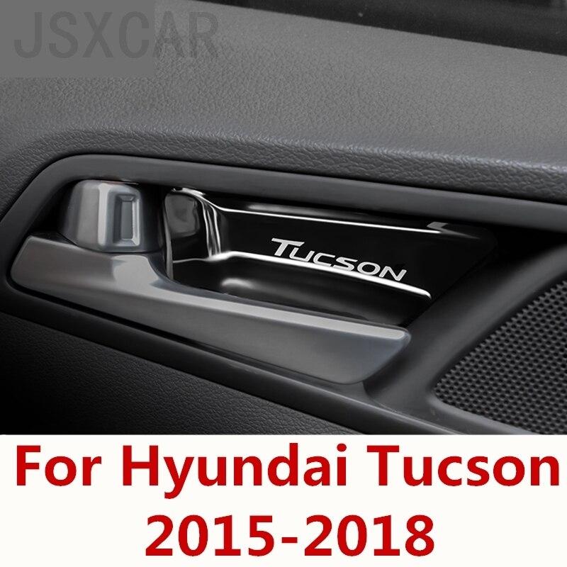 Estilo do carro dentro do punho decorativo remendo modificação dedicado interior porta interior tigela para hyundai tucson 2015-2018