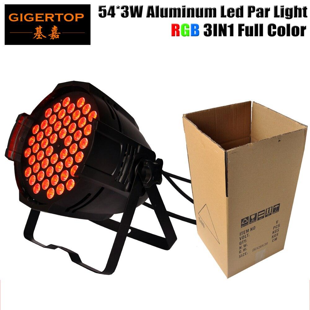TIPTOP TP-P54B алюминиевый светодиодный светильник с регулируемой яркостью 54x3 Вт RGB Полноцветный 25 градусов объектив для литья под давлением Par 64 ...