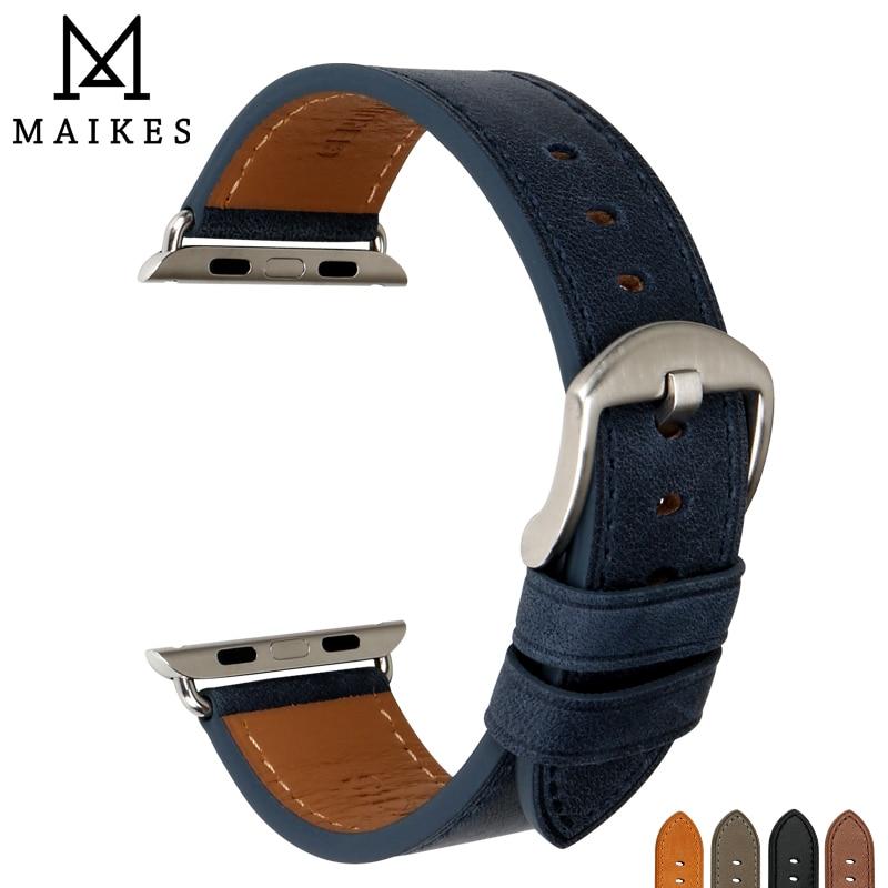 MAIKES Watchband niebieski do pasek do Apple Watch 44mm 40mm 42mm 38mm seria 4/3/2 /1 iWatch bransoletka pasek do zegarka Apple