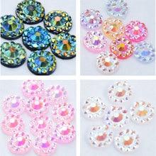 4Designs -overlay new Beads pearls plastic iridescent nail art acrylic iridescent rhinestone beads (4wheels designs) free ship