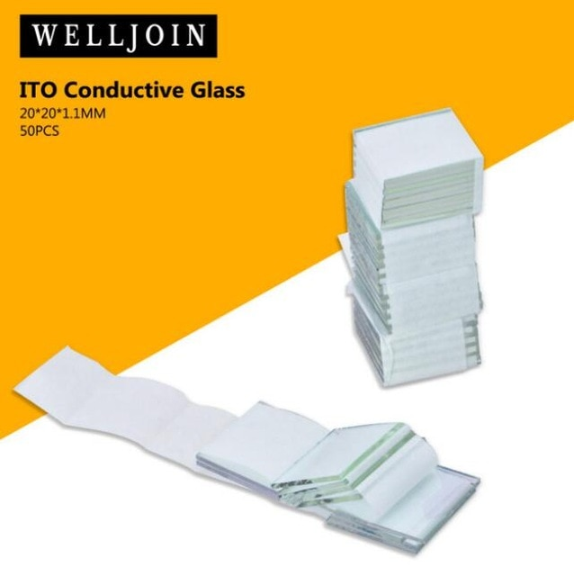 20x20x1.1 مللي متر ، <6 أوم/متر مربع ، 50 قطعة/الوحدة مختبر شفاف موصل الإنديوم القصدير أكسيد إيتو الزجاج