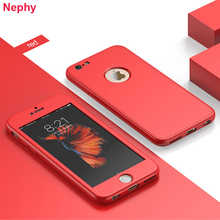 Matte 360 Full Soft Silicone Case For iPhone 6 s 6S 7 7S iPhone 8 Plus X 9 XR XS Max 5 5S 5SE Cell Phone Solid color Back Cover