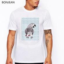 African Grey Parrot AAA Printed T Shirt men Cockatiel Design men tshirt Tops Bird Lover Tee shirt  homme Harajuku shirt t-shirt
