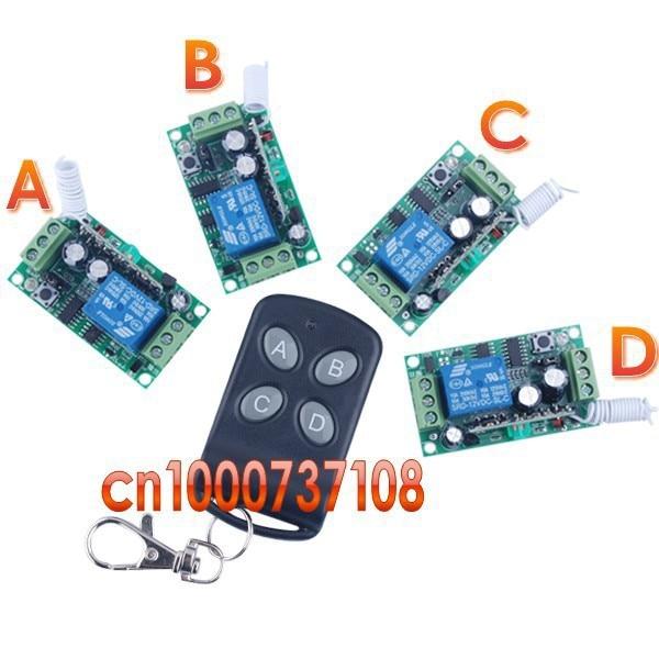 12 V 1CH Afstandsbediening Schakelaar Systeem 315/433 mhz Zender en ontvanger Radio controlesysteem lichtregeling