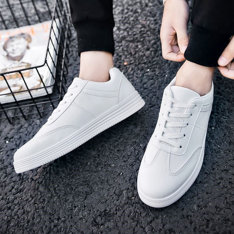 Spring Men Platform Shoes White Sneakers Men Casual Shoes Male Outdoor Walking Flat Footwear 2019 Tenis Masculino Adulto Beige
