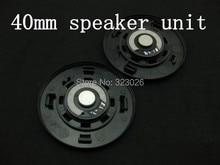 40mm speaker unit High quality diy earphones big earphones 40mm hifi speaker wool paper titanium 32ohms 1pair=2pcs