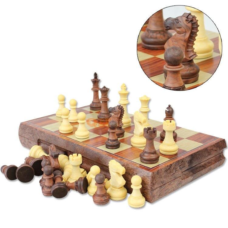 Ajedrez internacional damas tablero magnético plegable juego de ajedrez tamaño abierto 36cm * 31cm