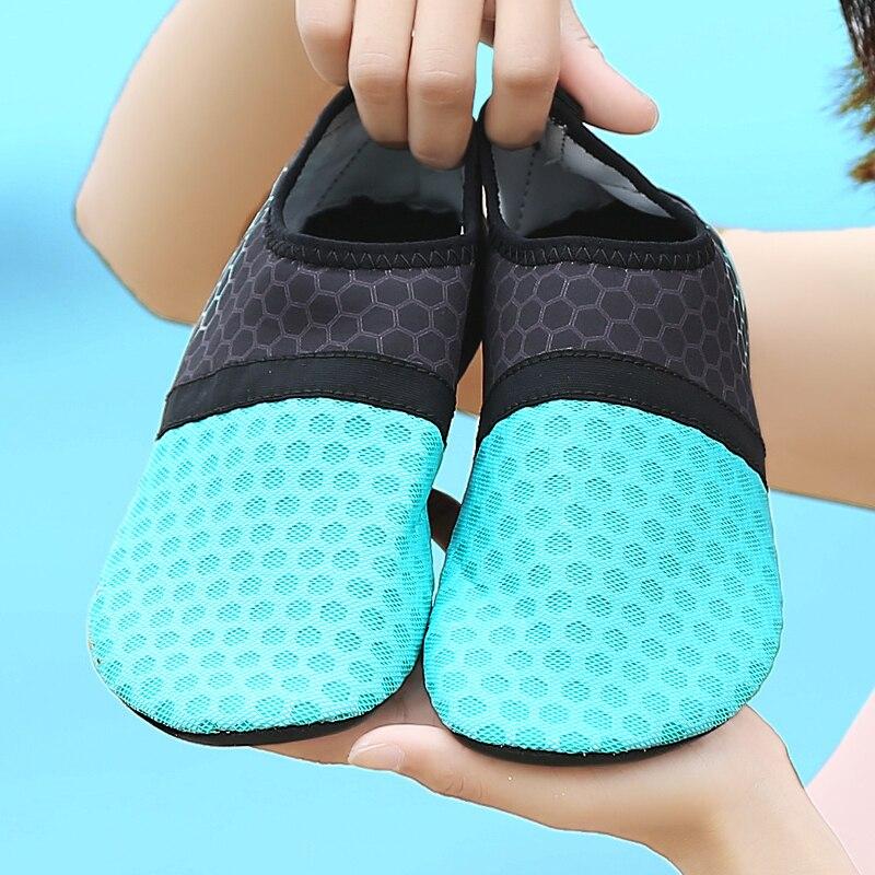 Homem mulher praia verão ao ar livre sapatos de natação leve chinelo sobre surf de secagem rápida aqua sapatos pele meia água sapatos